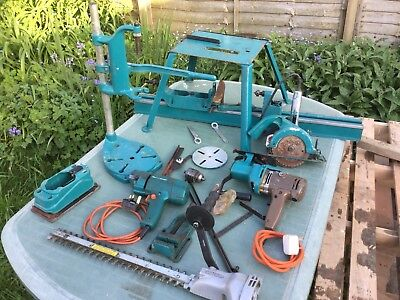 Vintage Black And Decker Tools/drills And Attachments Lathe Etc Collectors Item