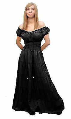 RENAISSANCE MEDIEVAL COSTUME PIRATE BOHO GYPSY WENCH PEASANT CHEMISE DRESS Cd11