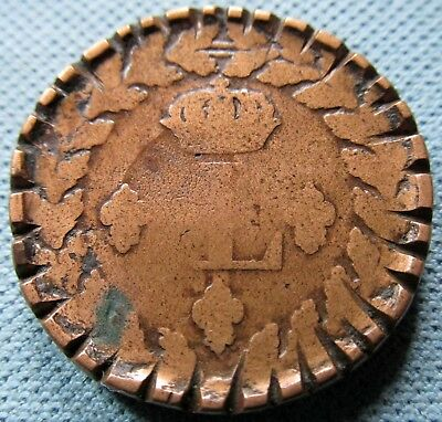 1815 BB France Decime King Louis XVIII Napoleonic Era - Waterloo Trench Art?