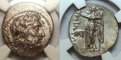 NGC AU. BOEOTIA FEDERAL. Super rare Poseidon and Nike. Greek Coin. Worth $ 2,000
