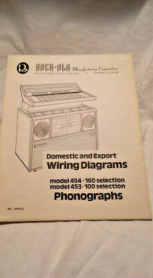 Rock-Ola Model 453-100, 454-160 Domestic & Import Wiring Diagrams