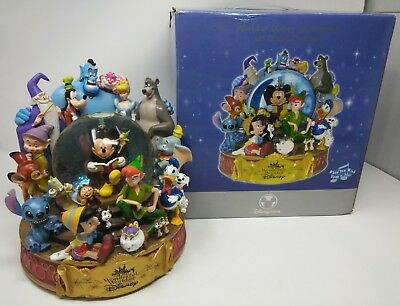Wonderful World of Disney Store Light Up Snowglobe w/ Original Box & Foam EUC