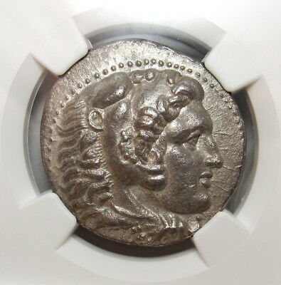 NGC AU FINE STYLE⭐. Alexander The Great.Magnificent Tetradrachm.Very Rare Greek