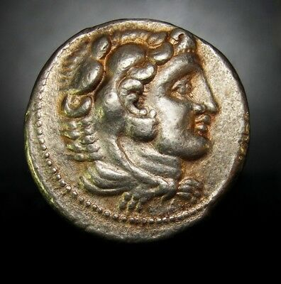 ALEXANDER THE GREAT LIFETIME TETRADRACHM. Gold Iridescent tone. Scarce, Rare
