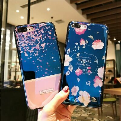 Retail - Shockproof Tough Flower iPhone 6S 8 7 Plus Xs Soft Case Cover for Apple