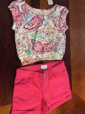 The Children's Place Girls 2 Piece Shorts Outfit Size 7/8 NWT