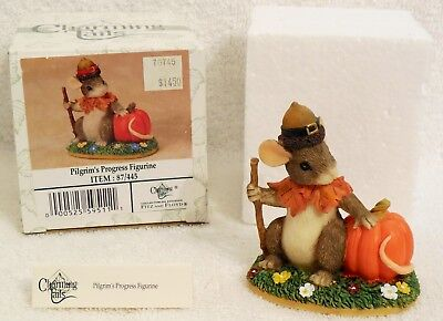 Charming Tail Figure Pilgrim's Progress By Fitz And Floyd