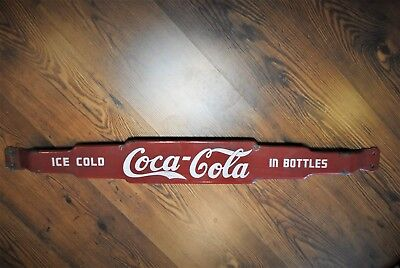 Original 1950s Coca Cola Porcelain Door Push Bar, Coke Advertising, Antique