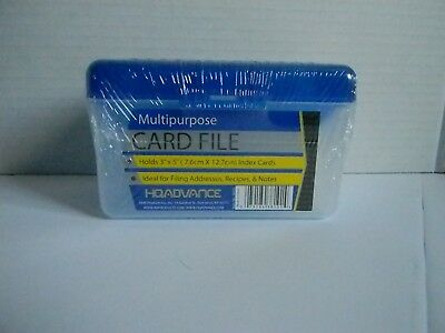 "Hq Advance Plastic  Multipurpose Index Card File For 3"" X 5"""