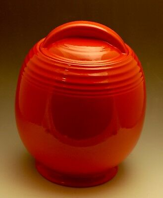 Hall China 5 Band Chinese Red Cookie Jar