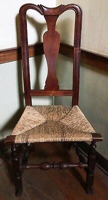 18th Century c.1730-1770 Well-carved Antique Queen Anne Massachusetts Side Chair