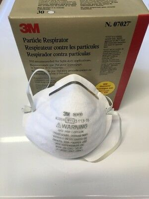 3M07027 Particle Respirator 30 piece N95 MADE IN USA