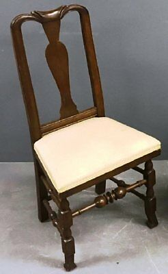 18th Century c.1730-1770 Beautifully-carved Queen Anne Massachusetts Side Chair