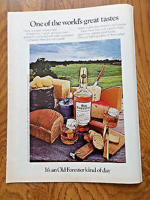 1972 Kentucky Old Forester Whiskey Ad  It's OF Kind of Day