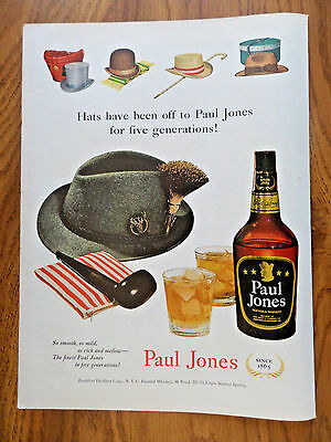 1951 Paul Jones Whiskey Ad Hats Have Been off for Five Generations