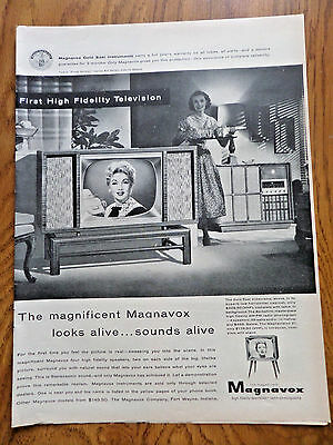 1956 Magnavox TV Television Ad 1Gold Seal Videorama Movie Star Ann Sothern