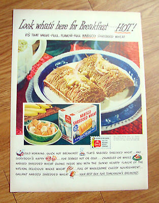 1944 Nabisco Shredded Wheat  Cereal Ad