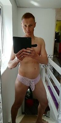 men's gay lace sissy girly knickers thongs / briefs