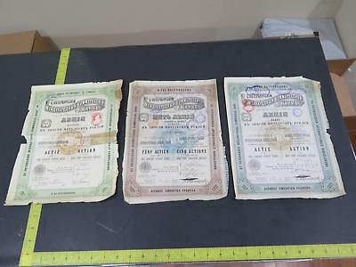 Russia St Petersburg International Mark Rubel Rouble Antique Stamped Bond Lot Cc
