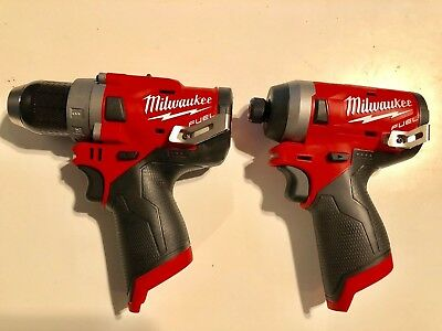 Milwaukee 2553-20 M18 FUEL 12V GEN II IMPACT + (1) 2503-20 GEN II DRILL