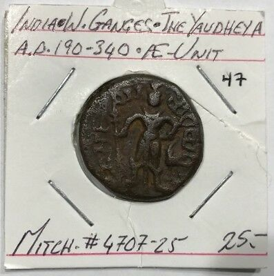 India W.Ganges The Yaudheya AD 190-340 AE Unit Mitch#4707-25