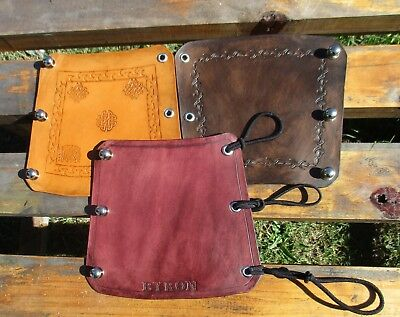 Personalized Leather Archery Arm Guard, Bracer