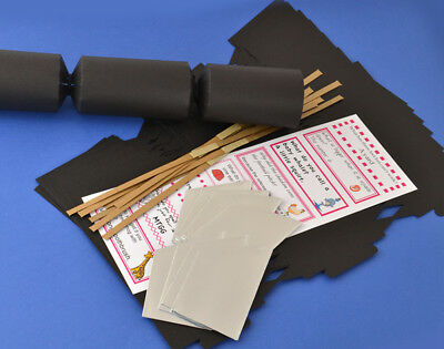 100 Black Make & Fill Your Own Cracker Kits - Bulk Buy