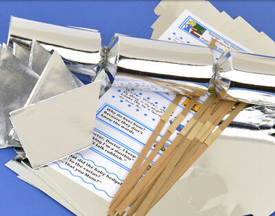 100 Silver Foil Make & Fill Your Own Cracker Kits - Bulk Buy