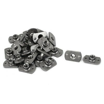 M6 Carbon Steel Slab Base T-Shaped 2 Projection Weld Nuts 25 Pcs F9S1