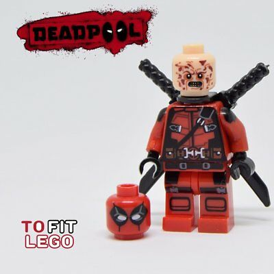 Deadpool Minifigure - new in bag - Lego compatible figure figurine