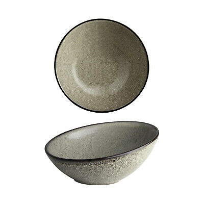 4x Slanted Bowl 215mm Olympia Mineral Commercial Crockery Rustic Natural