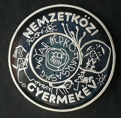 1979 Hungary UNICEF Year of the Child Silver (.64) 200 Forint coin