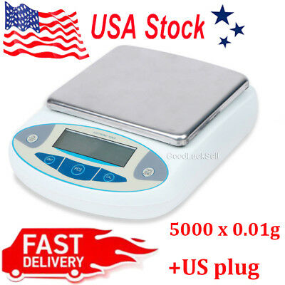 5000 x 0.01g 10mg 5kg Analytical Digital Weighing Balance Scale for Lab Jewelry