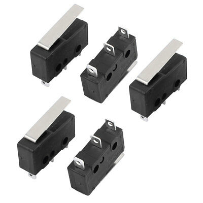 5pcs long lever limit micro switch 12v 24v 250vac. Black Bedroom Furniture Sets. Home Design Ideas