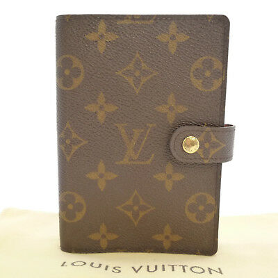 Auth LOUIS VUITTON Agenda PM Day Planner Cover Monogram Canvas R20005 #S201111