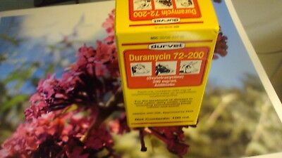 Durvet Duramycin 72-200, Antibiotic 100mL Oxytetracycline ( LA-200 )  exp. 01/20