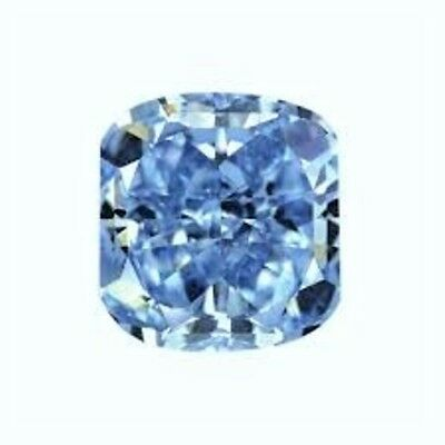 CUSHION SAPHIR 12x12 mm. CLAIR BLEU 10.00 CT. DIAMANT-BRILLANT VRAC DURETÉ 9