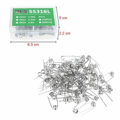 100Pcs Stainless Steel 316L Micro Coils RBA RDA Clapton Temperature Control NEW
