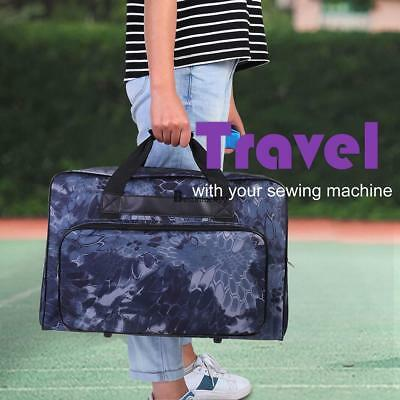 Floral Padded Rolling Sewing Machine Tote   Sewing Machine Case