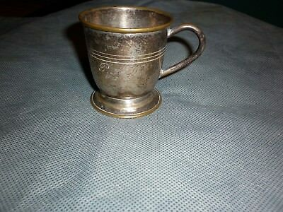 Vintage A1 Sterling Silver Cup Has 1947 & Initials On It
