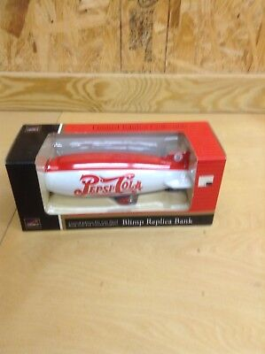 Pepsi-Cola Blimp Bank Liberty Limited Edition Die Cast Metal Coin New 1996
