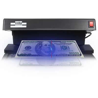 Portable Pro UV Counterfeit Bank Note Checker Forged Fake Money Detector Tester