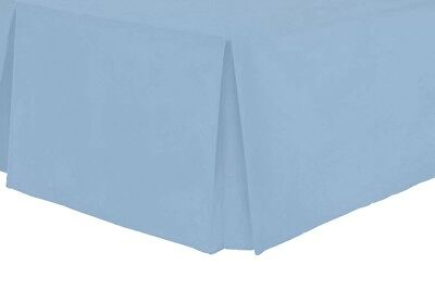 Luxury Plain Dyed Pleated Poly Cotton Platform Base Valance Sheets All Bed Sizes