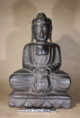 Vintage Chinese Wood Carved Buddjha