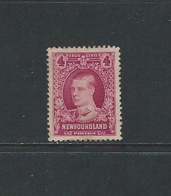 NEWFOUNDLAND - #166 - 4c PRINCE OF WALES (1929-1931) MLH WELL CENTERED