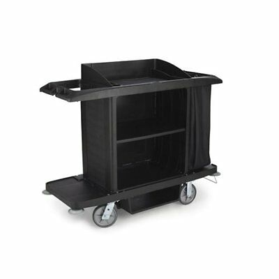 Rubbermaid Commercial Products Full-Size Housekeeping Utility Cart Black