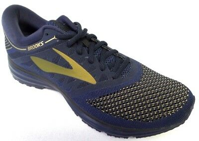 d1a5eab51c18b NEW MEN S BROOKS Revel Running Shoes - Size 9 - Peacoat Blue Gold ...