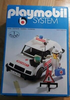 Very-Rare Vintage Playmobil 3217 Doctor's Car Neu/New/Nuevo/Nouveau MISB/MISP