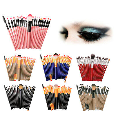 20pcs Makeup Brushes Set Powder Foundation Eye Shadow Make Up Brush Tool US NEW