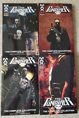 Punisher Max: The Complete Collection Vol. 1 2 3 4 Garth Ennis